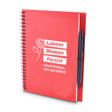 Labour Women Persist A5 Red Notepad